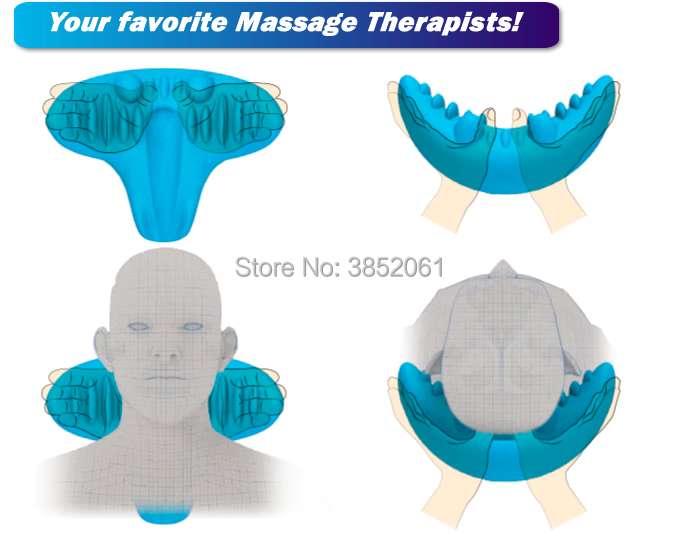 Купить с кэшбэком new product 2018 acupressure machine c-rest neck support pillow relaxation shoulder neck tension relief pillow massager
