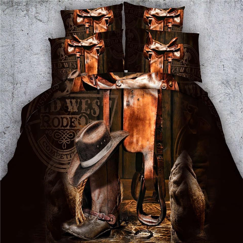 3D Print Brown Cowboy Hat Bedclothes Sets 3/4 Piece Comforter/Duvet Cover Twin Full Queen Super King Sizes Bedspread 500TC Doona3D Print Brown Cowboy Hat Bedclothes Sets 3/4 Piece Comforter/Duvet Cover Twin Full Queen Super King Sizes Bedspread 500TC Doona
