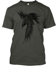 Модная мужская классическая футболка из хлопка I Am The Raven ~ Child of Odin, 2019, в стиле хип хоп, уличная одежда, индивидуализированные рубашки