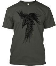 Trendy für ICH Bin Die Raven ~ Kind von Odin Baumwolle Männer Klassische 2019 Hip Hop T Shirt Streetwear Kleidung personalisierte Shirts