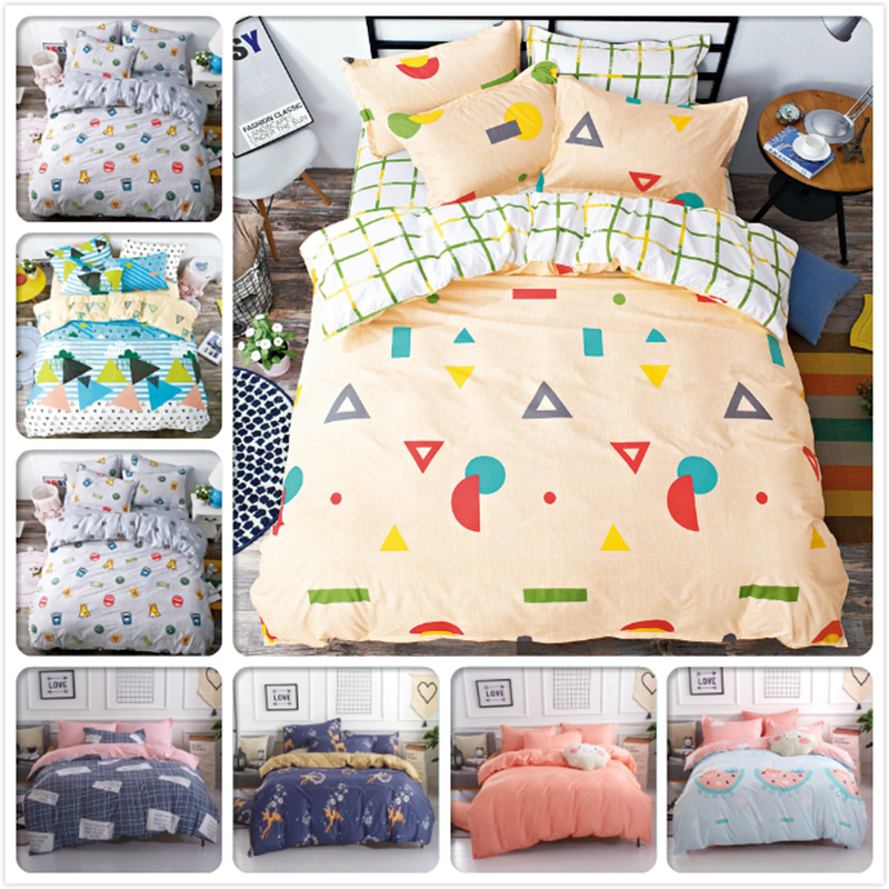 1.5m 1.8m 2m 2.2m Bed Linens Flat Sheet 3/4 pcs Bedding Set King Queen Double Size Duvet Cover Winter Aole Cotton Warm Bedlinens