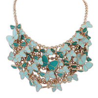 065c564864c6 2014 High Quality Women S Fashion Necklace New Drip Color Exaggerated  Butterfly Alloy Necklace Statement Jewelry