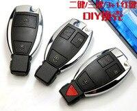 Новинка! 2/3/3 + 1 Пуговицы Smart Remote Оболочки для Mercedes Benz с Батарея держатель Клип Автомобильный Болванки для ключей чехол