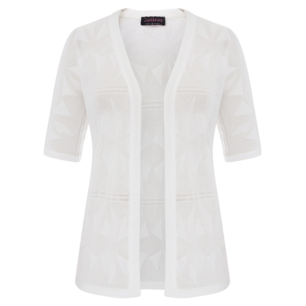 Short Sleeve New Cardigan Women Spring Summer Coat Slim Thin Knit Sweater Hollow Jacket Lace Shawl Sun Shirt Vestidos Lxj244 Cardigans