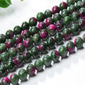 2016 6A quality natural green mixed red agate stone beads diy natural agate stone beads for making necklace drop shipping