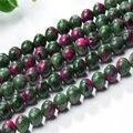 2016 natural qualidade 6A mista verde e vermelho ágata stone beads diy ágata pedra natural beads para fazer colar de transporte da gota