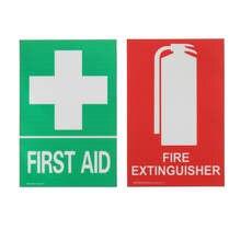 Extintor de incêndio de primeiros socorros, conjunto de decalque em pvc para sobrevivência, emergência e segurança ao ar livre 100x66mm