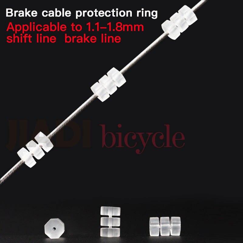 10 шт. велосипед тормозной трос силиконовые кольца Сдвигатель кабель пробки восьмиугольная уплотнительное кольцо Защита линии кольцо MTB дор...