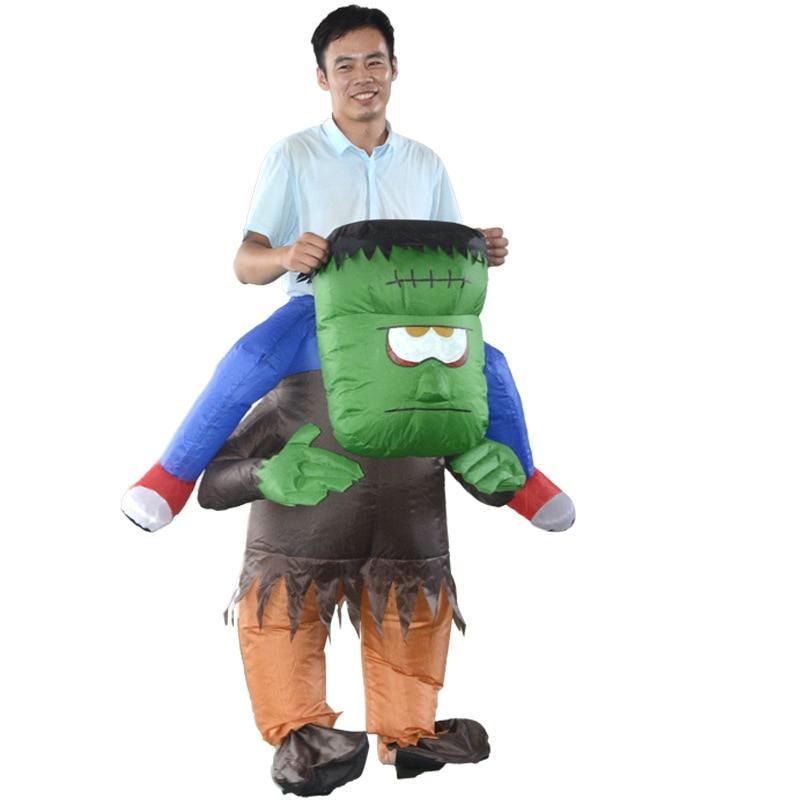 Volwassen opblaasbare Frankenstein Monster draagt u op terug - Carnavalskostuums