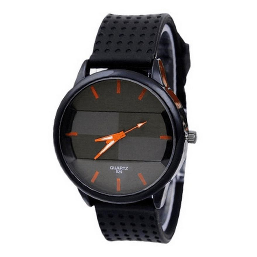 2017 NEW Men Fashion Simple Classical Distinctive Silicone strap Sport Cool Quartz Hours Wrist Analog Watch Hot Gift L7242 jinnaier 2017 new hot sales fashion 7colors retail men silicone sport wristwatch quartz watch