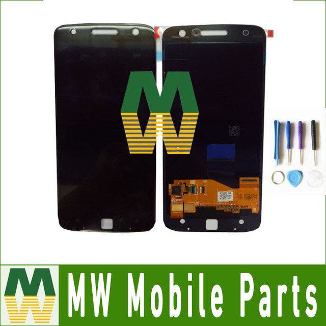 1PC/Lot  LCD Display+Touch Screen Full Assembly Digitizer For Motorola Moto  Z XT1650 with tool Black White color