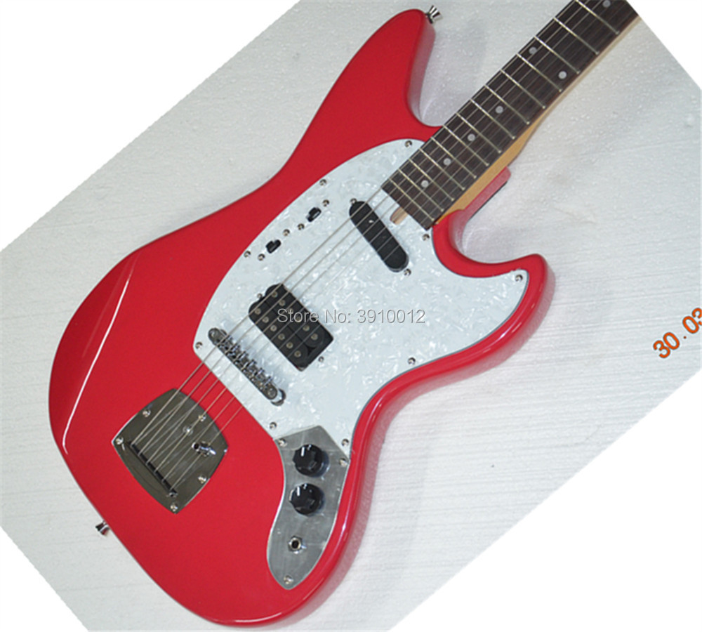 High quality S H pickups Mustang Electric guitar Guitarra All color Available in Guitar from Sports Entertainment