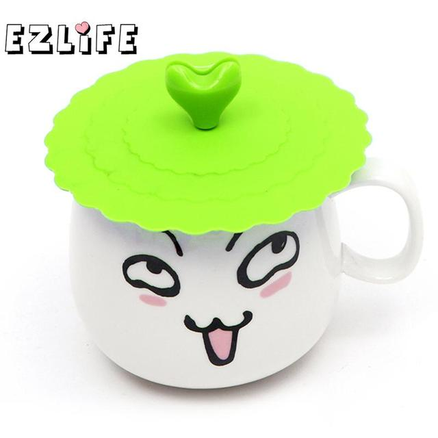6f689c9afef 4 Colors Cute Anti-dust Silicone Glass Cup Cover Coffee Mug Suction Seal Lid  Cap Silicone Cup Cover ZH01727