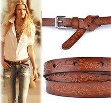 2016 Women Fashion Belts Cinturones Mujer Ladies Faux Leather Metal Buckle Straps Girls Fashion Accessories