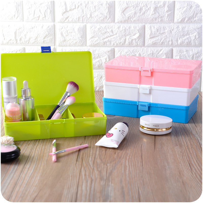 Exquisite Plastic Nail Polish Lipstick Cosmetic Makeup Organizer Crystal Acrylic Desktop Storage Box Stationery Storage Boxes