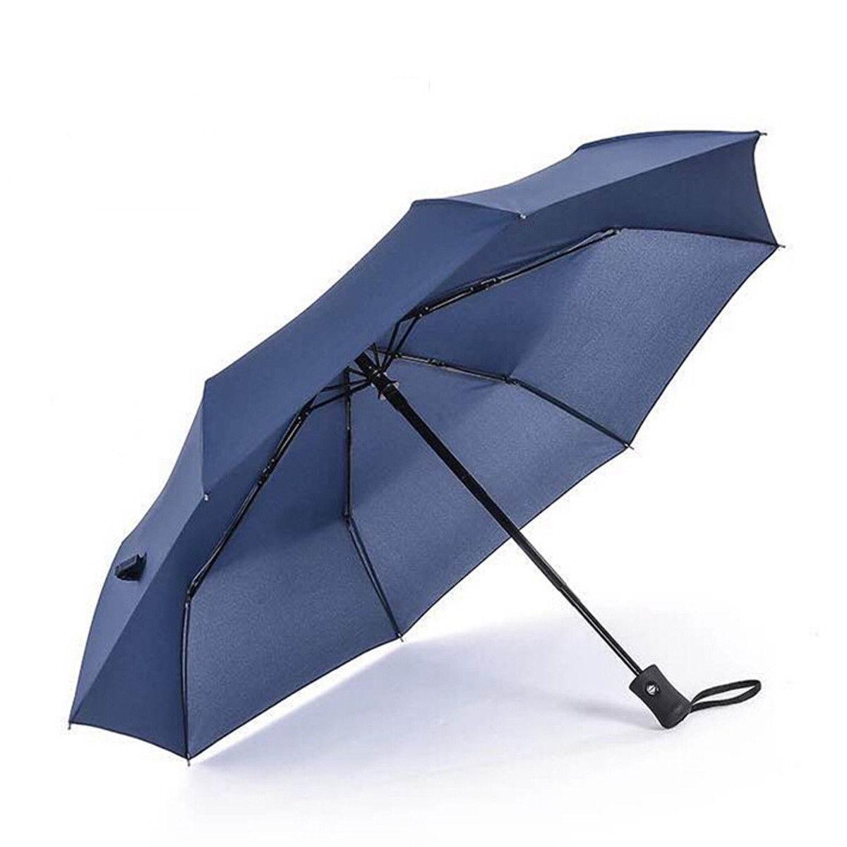 Новое поступление популярный автоматический зонт ветрозащитный мужской черный Компактный широкий автоматический открытый закрытый легкий - Цвет: Синий