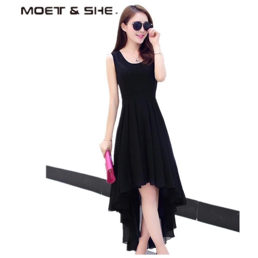 790e6ce72c Hot Bohemia Style Women's Asymmetric Sleeveless long Dresses Casual Dress  Vestidos Femininos For Elegant Women longo D56204