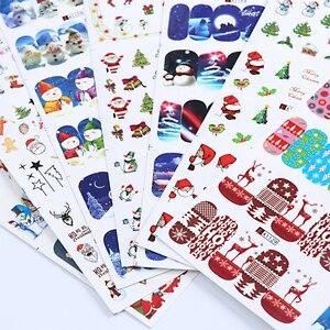 Image 5 - 12 Thiết Kế Trong 1 Mùa Đông Bông Tuyết Full Đeo Móng Tay Nghệ Thuật Chuyển Nước Miếng Dán Giáng Sinh Phong Cách Làm Móng Decal DIY BEA1177 1188