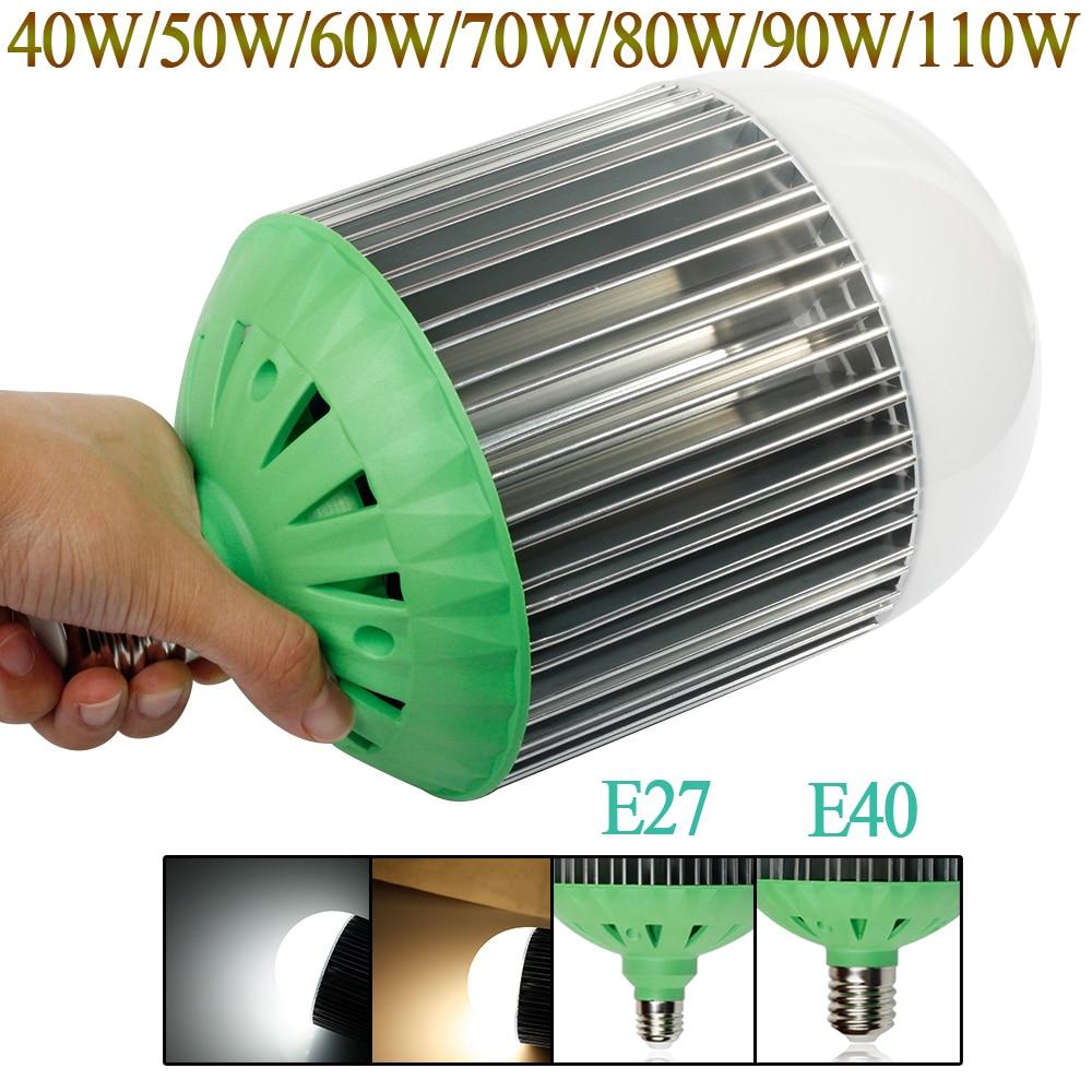 free shipping 40w/50w/60w/70w /80w/90w/110w LED bubble ball bulb Cool White LED e27/e40 base low power Low heat