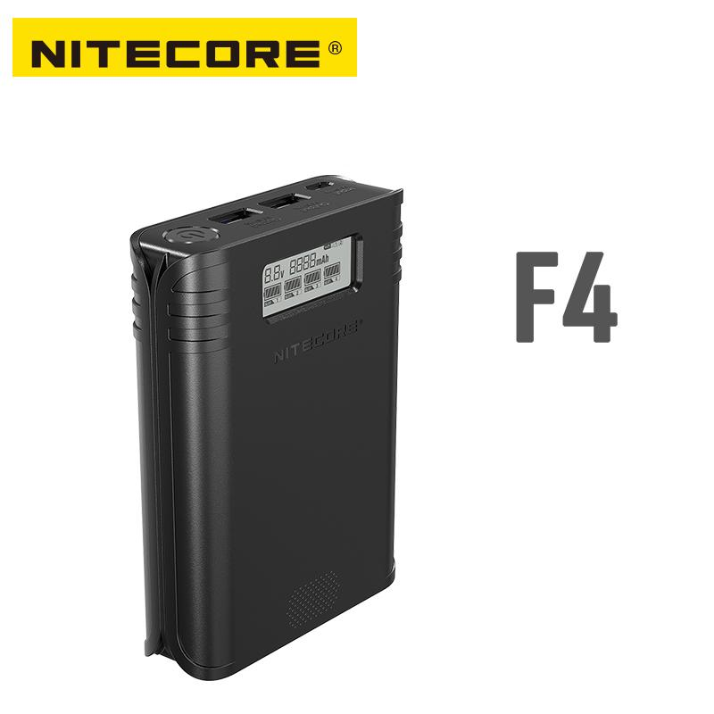 NITECORE F4 Four -slot Flexible Power Bank Battery Charger Apply To Li-ion/IMR: 18650