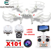 MJX X101 2 4G RC Quadcopter Drone Drones Rc Helicopter 6 Axis Can Add C4005 C4008