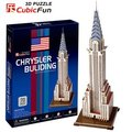 CubicFun 3D puzzle DIY toy Children gift paper model American building Chrysler Building C075H world's great architecture gift