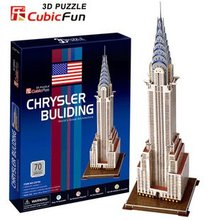CubicFun 3D puzzle DIY toy Children gift paper model American building Chrysler Building C075H world s