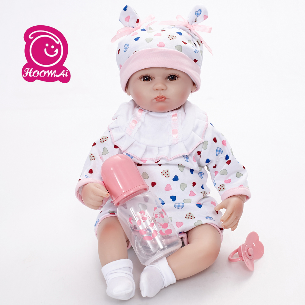 45CM Baby Dolls Lifelike Reborn Baby Doll Action Figure Toys Silicone Children Toy with Hair Kids Birthday Gift45CM Baby Dolls Lifelike Reborn Baby Doll Action Figure Toys Silicone Children Toy with Hair Kids Birthday Gift