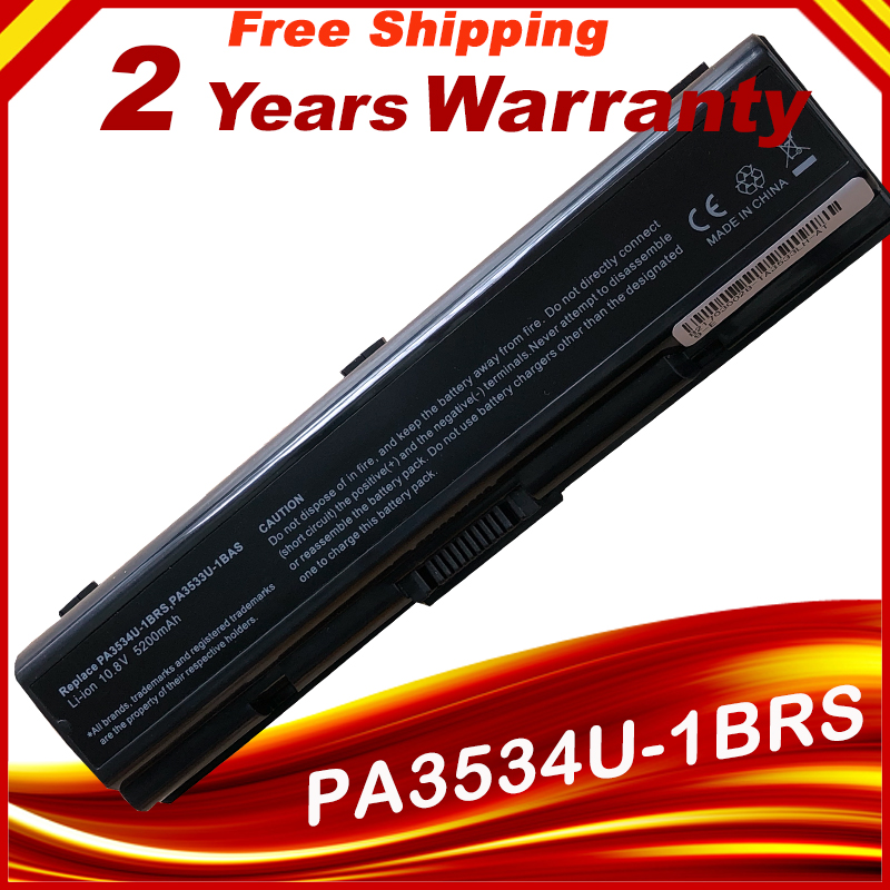 Laptop Battery 5200MAH For Toshiba Pa3534 Pa3534u PA3534U-1BAS PA3534U-1BRS FOR Satellite L200 L500 A300 A500 L550 L555