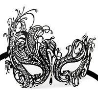 Belle Venise Partie Masques Noir Métal Mascarade Masques Strass Moitié Du Visage Princesse Masque Cadeau de Fête 5 pcs/lot SD232