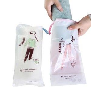 2pcs Travel Accessories Drawstring Packing Organizers Cosmetic Bag Women Men PVC Makeup Case Make Up Bath Storage Pouch Kit Bag