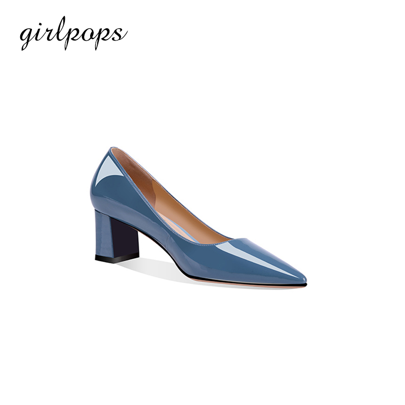 100% High Quality Girlpops Genuine Leather Spring Office Pump Women Shoes Dress Pumps  Pointed Toe  High Heels For Female 0028 high quality sbc8168 rev c2 100