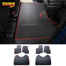 HANGUP Floor Mats Car For Ford F150 2015 Up Rubber Interior Floor Foot Mats Pads Carpet Decoration Accessories Car Floor Mats for audi q7 2015 2019 rubber floor mats into saloon 5 pcs set seintex 86854