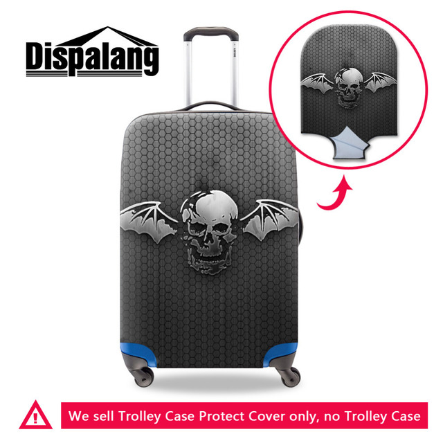 Crânio Acessórios de Viagem Anti-Scratch Protetor de Bagagem Elástica Spandex Trolley Caso Bagagem Capa Protetora Para 18-30 Polegada
