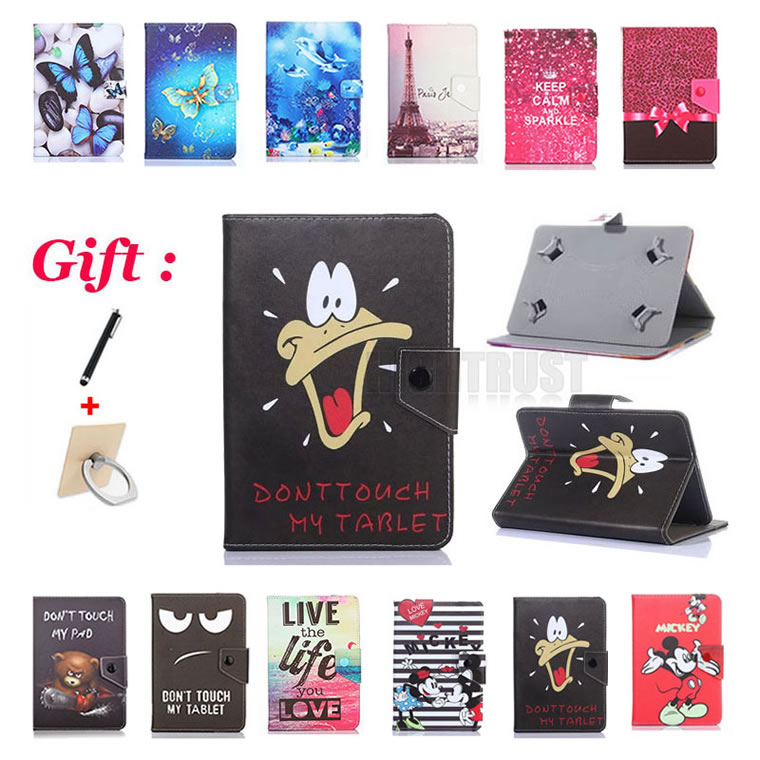 Universal 9.6 Inch Cartoon Pu Leather Stand Case For Samsung Galaxy Tab E 9.6 SM-T560 SM-T561 T560 T561 9.6