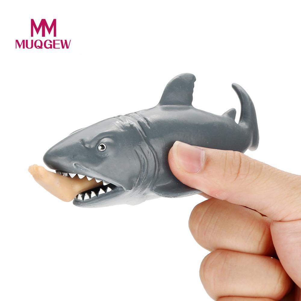 MUQGEW Brand Simulation Animal Shark eating a man mini Figurine 11.5cm Doll Action Figure Model Kids Toy Doll Hot Sale gift