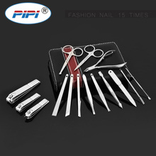 15 in 1 Manicure set Professional nail clipper kit Finger Plier Nails art Beauty tools scissors knife Best gift for you стоимость
