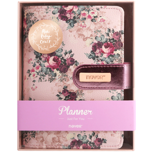 Image 5 - NEVER stationery rose series spiral notebook 2020 agenda organizer A6 planner personal diary book office and school supplies