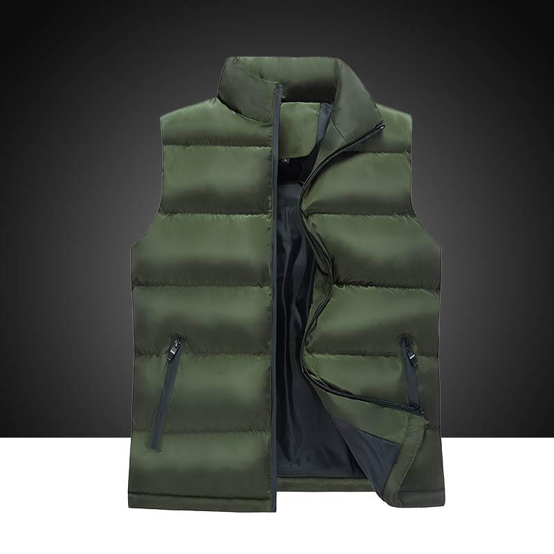 elegant city classic down jackets canada autumn winter clothing light warm korean dress vests male dress big size coat for men