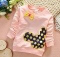 (1 peças/lote) 100% 2016 algodão 1-três anos de idade do bebê roupas de menina