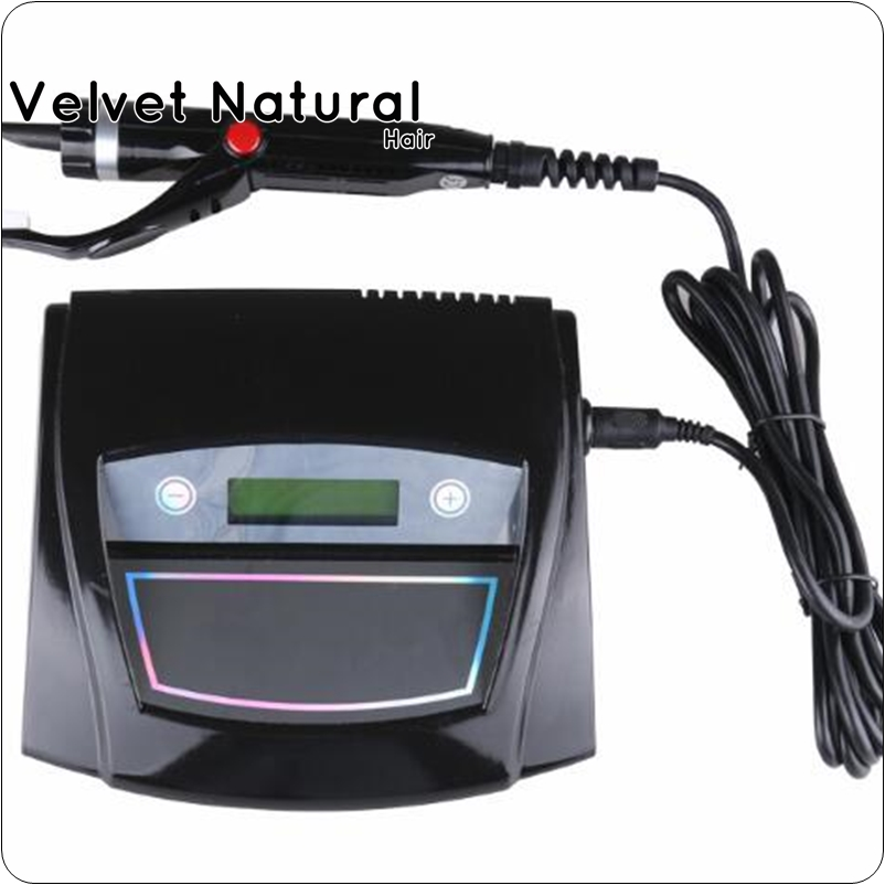 Black Digital Ultrasonic Hair Extensions Fusion Machine/ Connector Ultrasonic Hair connector fusion Ultrasonic iron hair tools