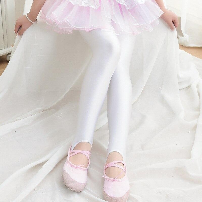 Pure base brilhante calças de dança meia-calça de verão meninas das crianças calças calças outono calça casual calças de fitness 4 6 8 10 12 14 anos