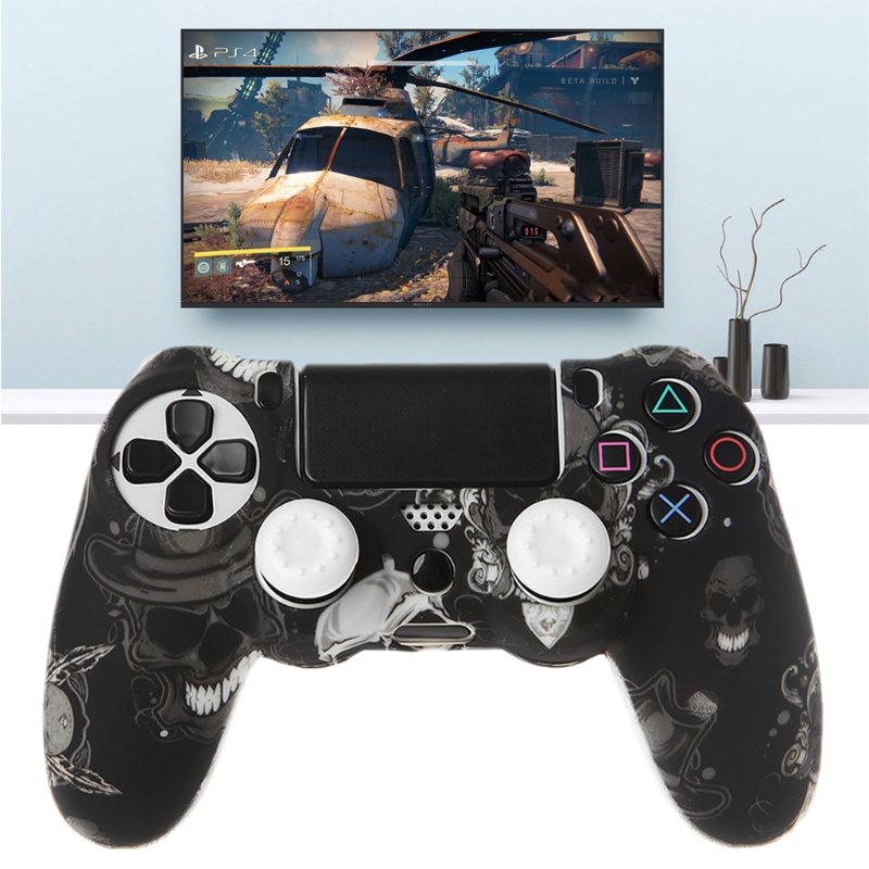 Image 2 - Gamepad Controller Silicone Sleeve Guard Protective Cover + 2 Grip Caps For PS4-in Replacement Parts & Accessories from Consumer Electronics