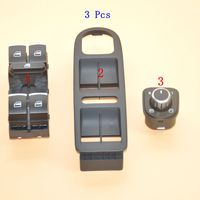 3 Pcs OEM window lift switch rear view mirror switch and switch box for golf MK5 6 5ND 959 857