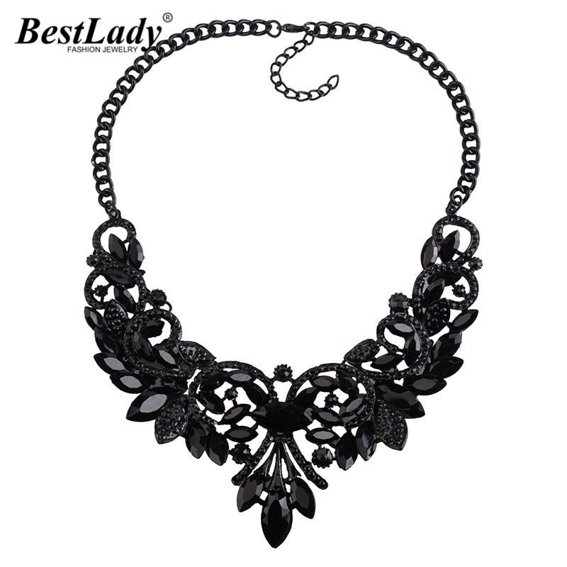 Best lady New Color Gem Crystal Brand Maxi Statement Necklaces& Pendants Vintage Turkish Wholesale zaCollar Choker Necklace 3237