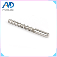1pc 8x82MM Ceramic Mud Powder Extruder Micro Screw Throat Feed Rod Hardened Steel 304 Stainless Steel Feed Rod 3D Printer Parts