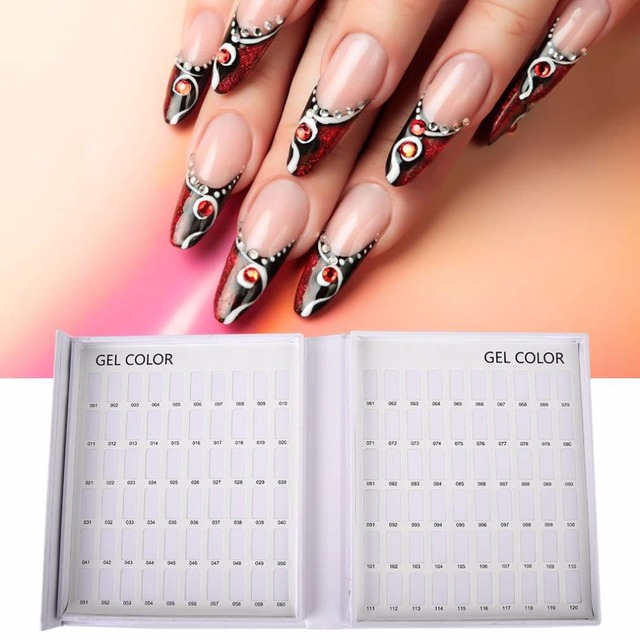 New Styleprofessional 120 Colors Nail Gel Polish Display Card Book Color Board Chart Art Salon