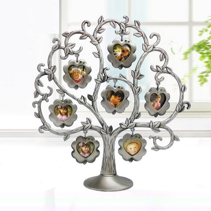 Wedding Gifts For Relatives: New Fashion Family Tree Rhinestone Photo Frame Lovely DIY