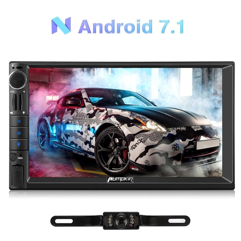Citrouille 2 Din ''Android 7.1 Universel De Voiture Radio Aucun Lecteur DVD GPS Navigation Quad-Core Voiture Stéréo Headunit Soutien DAB DVR OBD2