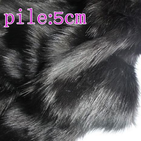 Black  Solid Shaggy Faux Fur Fabric (long Pile Fur)  Costumes  Cosplay Cloth  Fur Coat  36